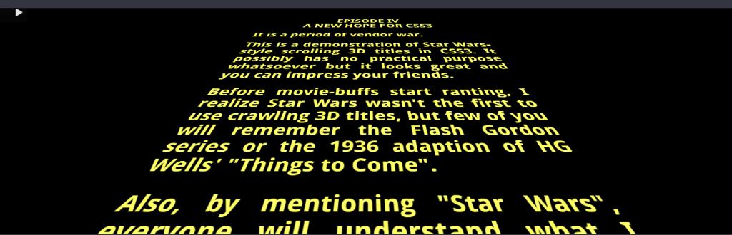 Star Wars 3D Scrolling