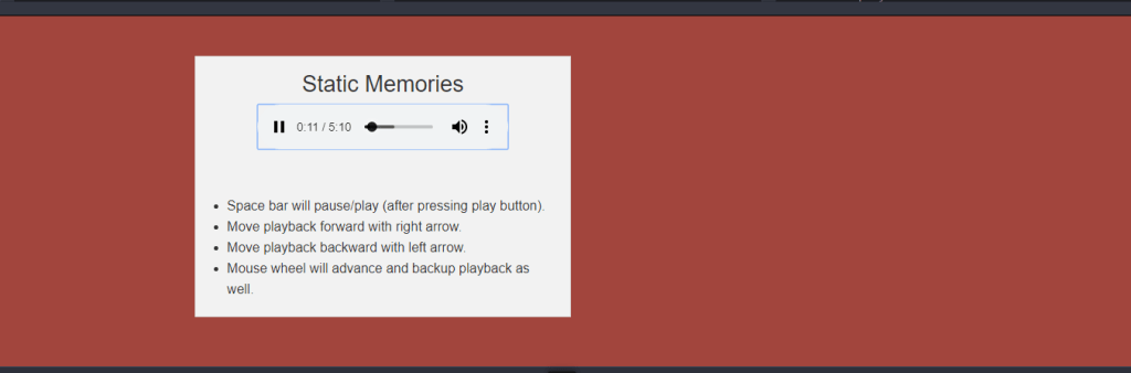 Simple audio player example