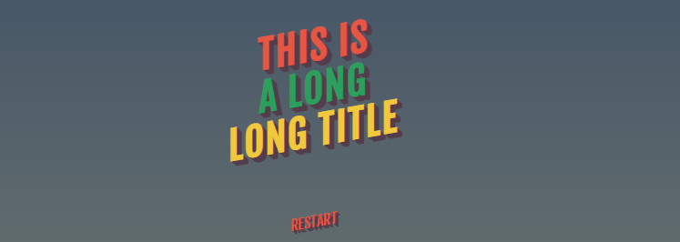 Title Text Animation