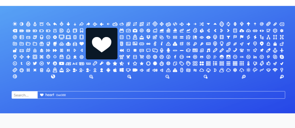 Vector font icons