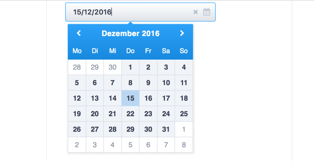 React component for datetime picker