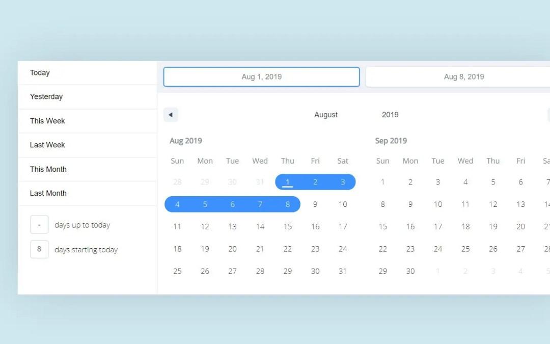 React calendar component examples
