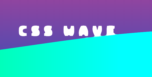 CSS Wave