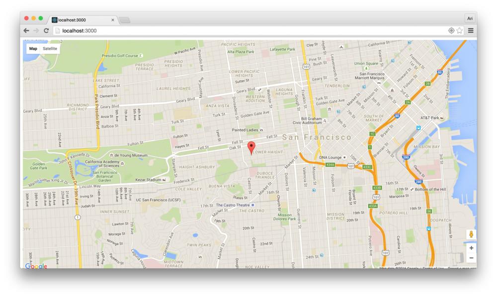 Google Map React Component