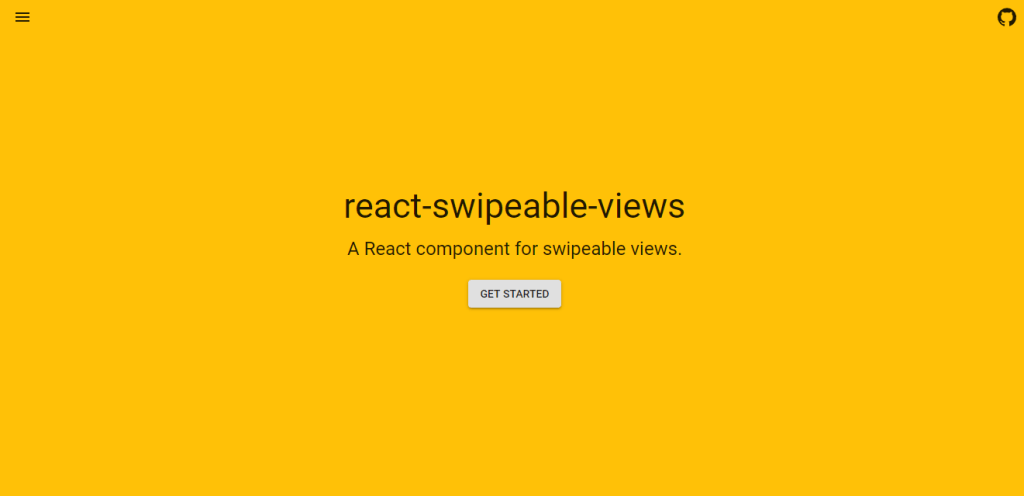 React swipeable views