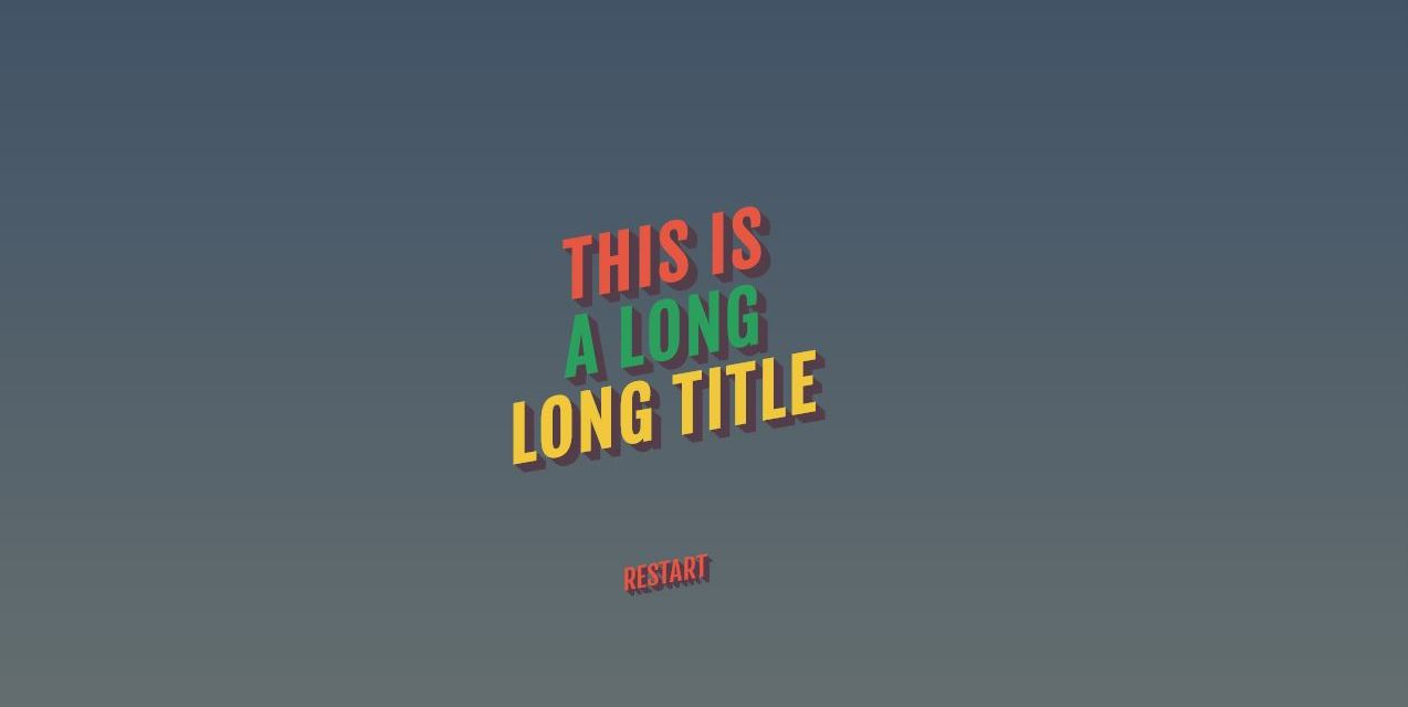 Awesome Text Animation with CSS and JavaScript