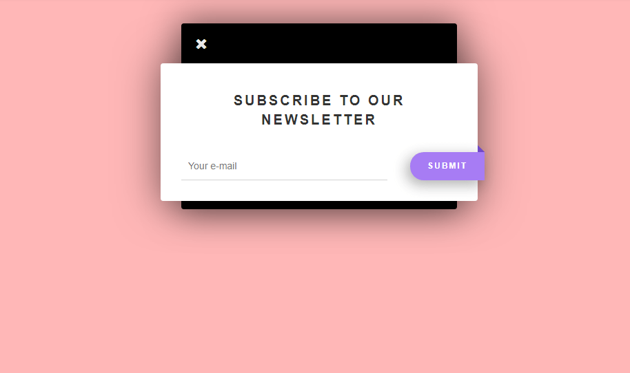 3D css subscription form with ribbon subscribe button