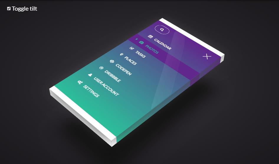 Mobile menu amazing example