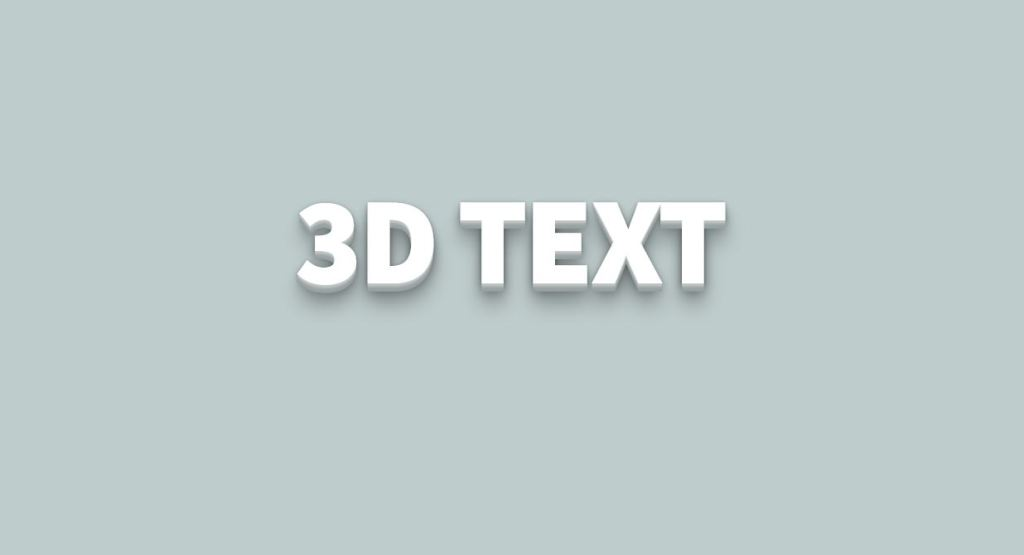 3d letter font css examples and text shadow