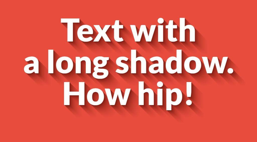 Long Shadow Gradient Mixin