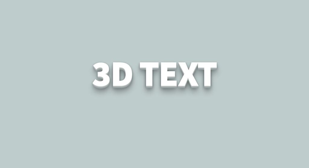3D-Text with Text-Shadow