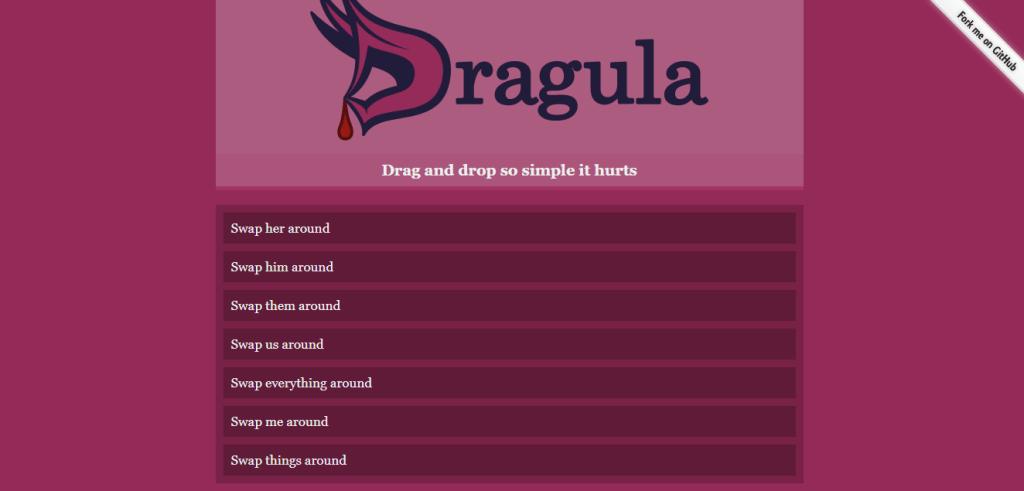 Dracula drag and drop using reactjs