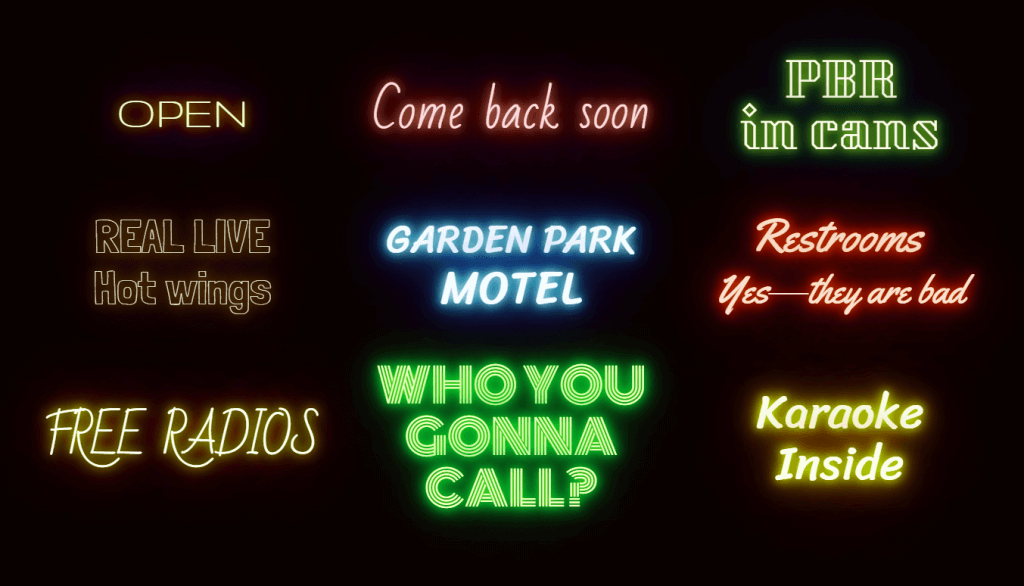 Neon text shadow effect CSS Border Glow
