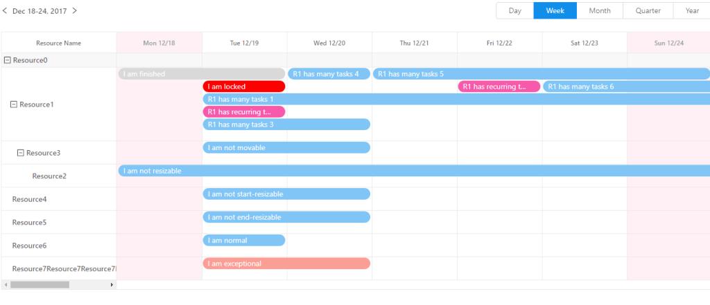 React calendar component