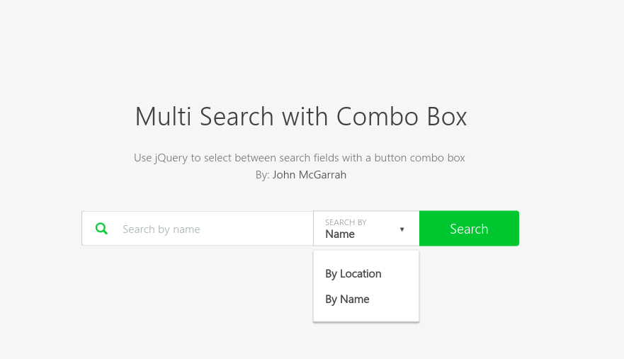Multi search with combo box