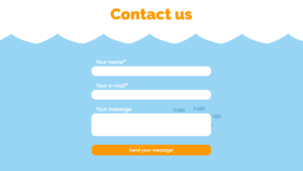Under the sea contact form