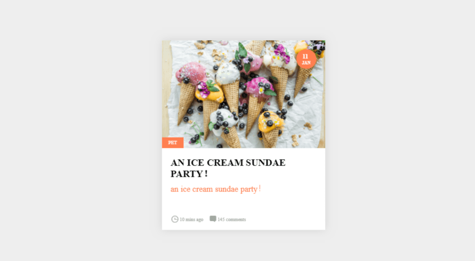 bootstrap card design for recepie site