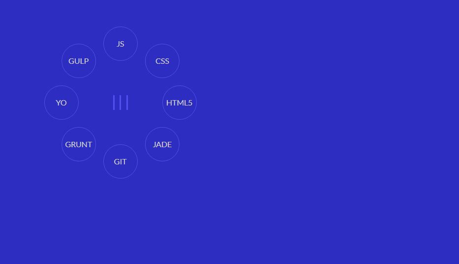 bootstrap circular radial menu