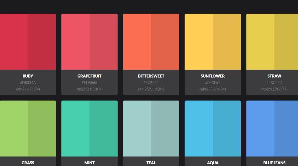 color palette html css