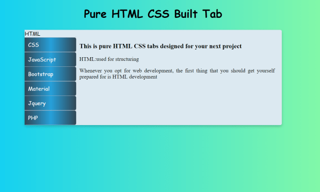 How to Make Vertical Tabs Menu with CSS
