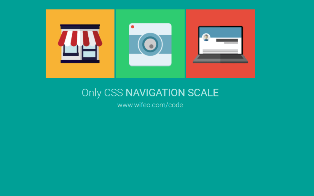 css scale navigation