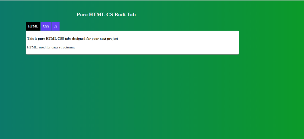 html css tab final Preview