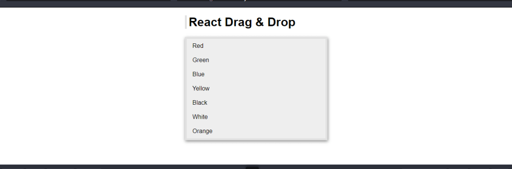 React Drag & Drop List