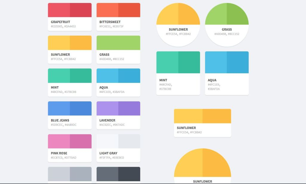 flattastic color palette html