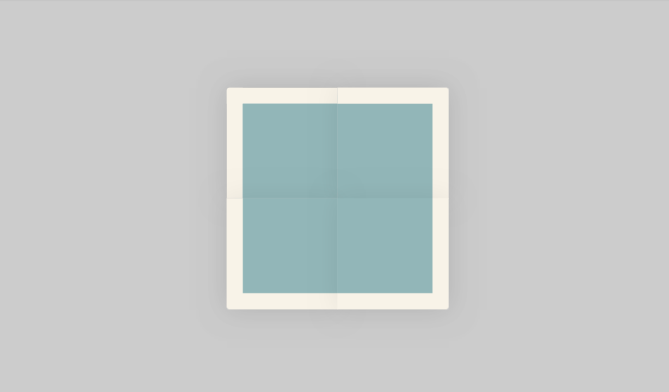 folded paper layout with css