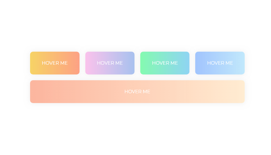 gradient color reflection on hover css button with code