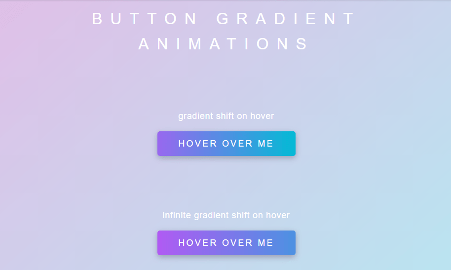 Gradient css animation on button hover with code