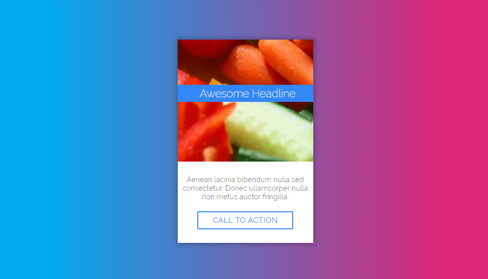 card design with hover animation using css