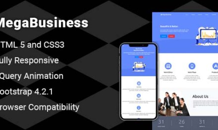 Responsive Bootstrap One Page Business Website Template Free