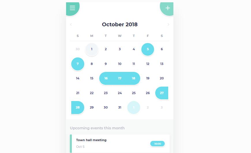 calendar mobile