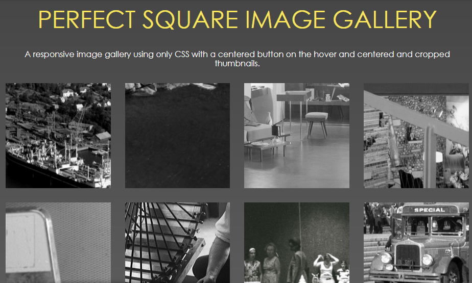 perfect square thumbnail gallery with code