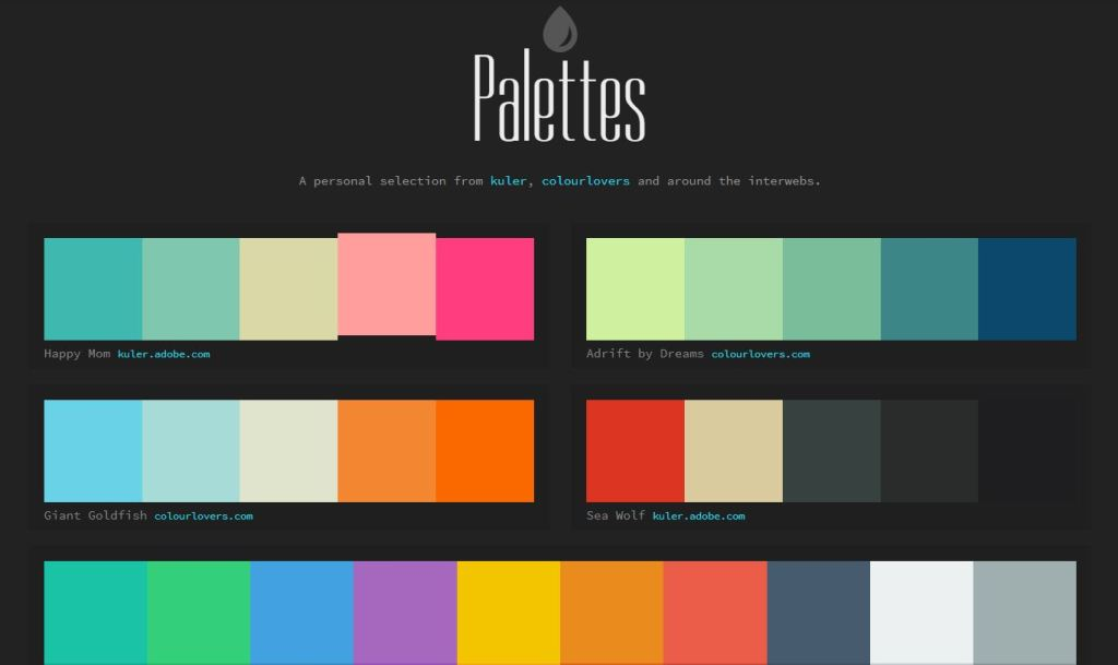 color palette choose html