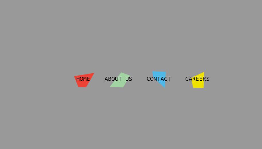 horizontal navbar example with css