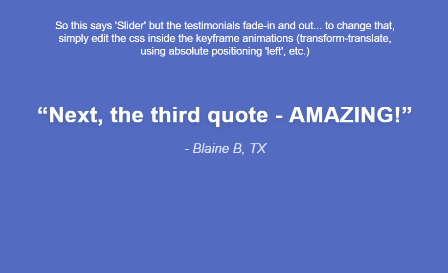 simple css quotation slider