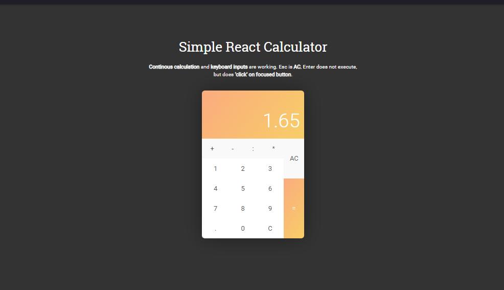 react calculator tutorial example