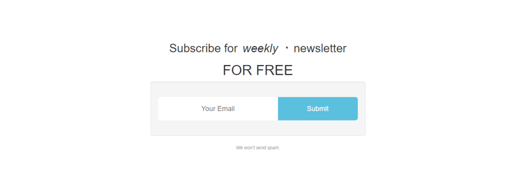 simple subscription form with css