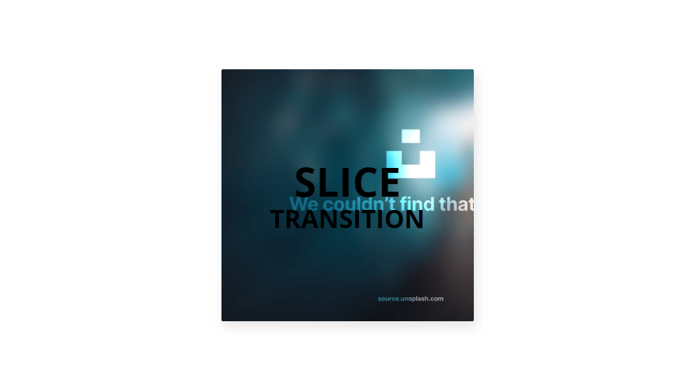 css slicing image transition