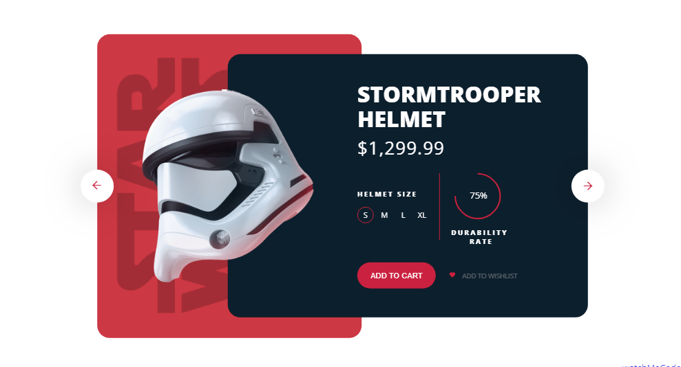 star wars helmet product card examples with css