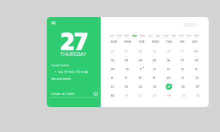 20+ CSS Calendar Examples Inspiration Design