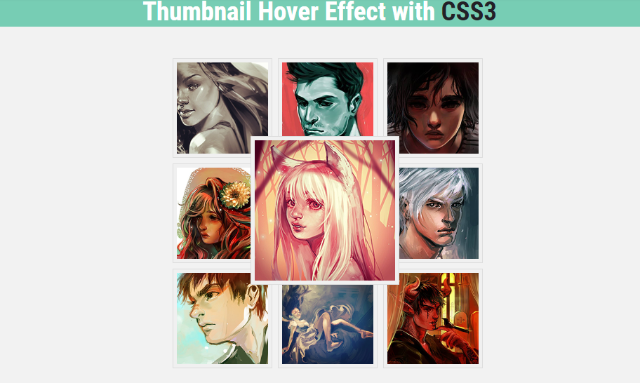 thumbnail hover examples