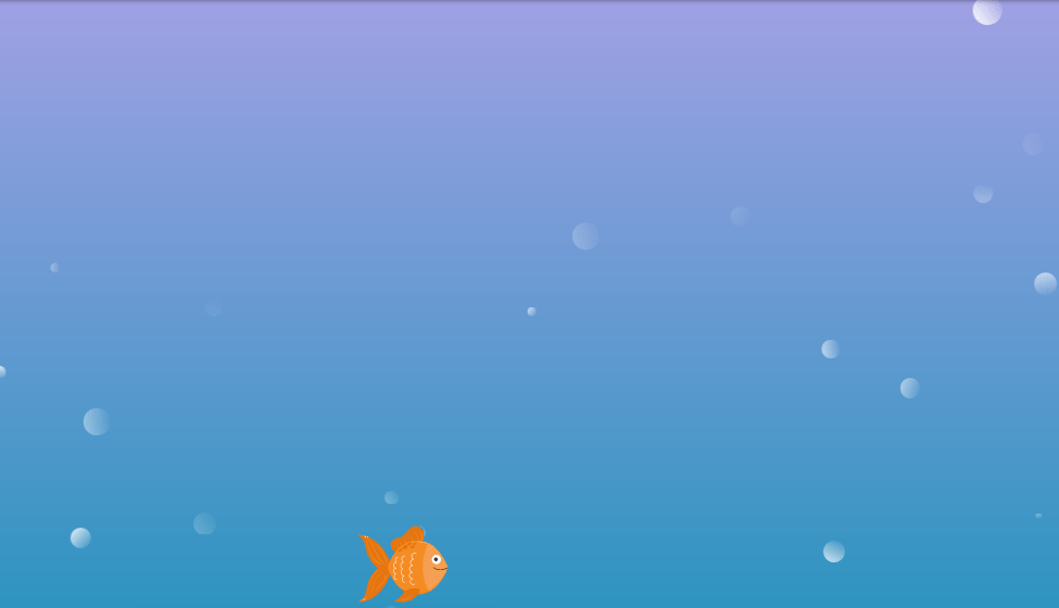 under water animation with css