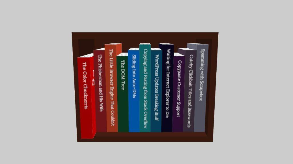 3d book browsing