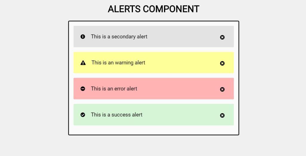 Alerts CSS alert box