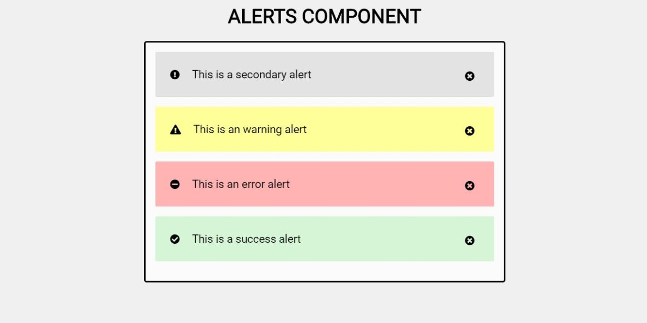 20+ CSS Alert Box Examples with Code Snippet