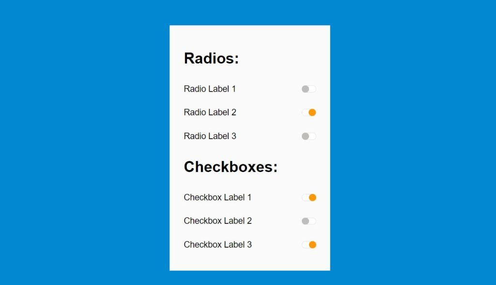 animated radio switches