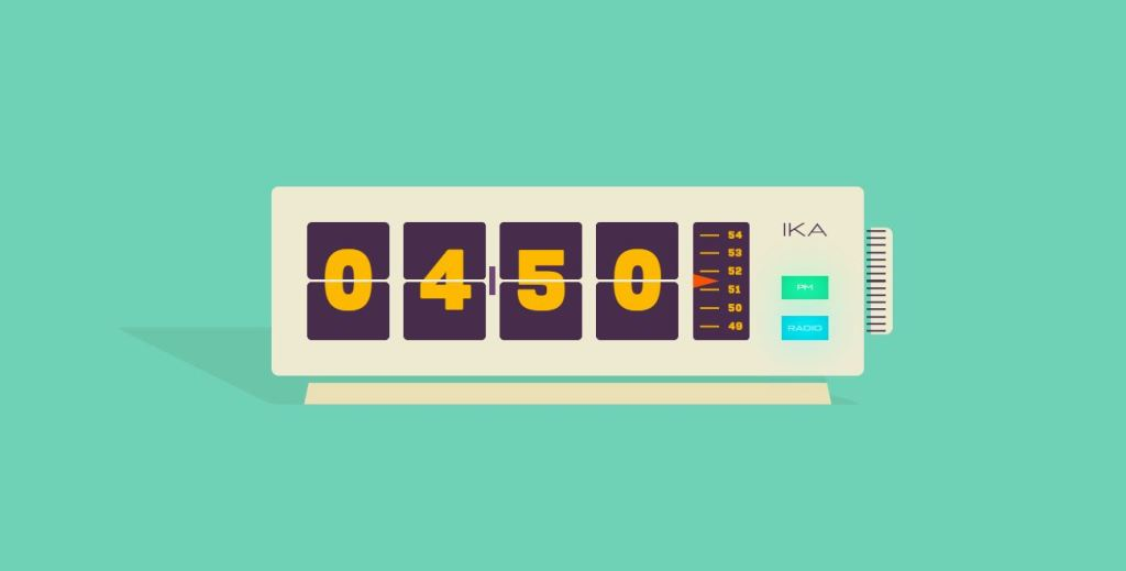 atv vintage radio flip clock